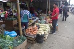 Der Gemüsestand auf dem Markt in Archidona - El puesto de frutas y verduras en el mercado en Archidona